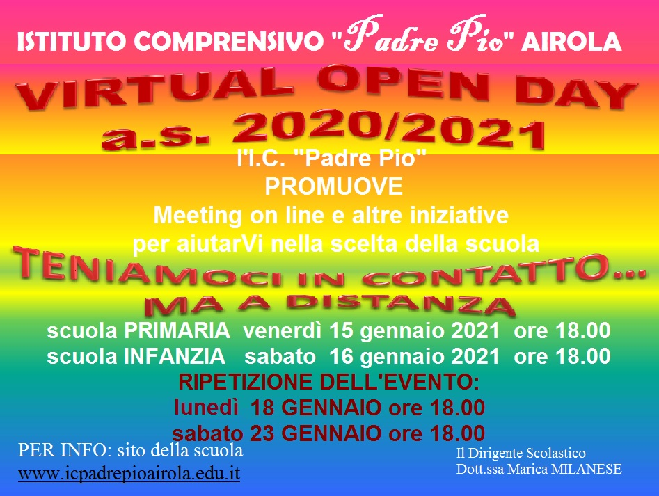 VIRTUAL OPEN DAY ANNO SCOLASTICO 2020-2021